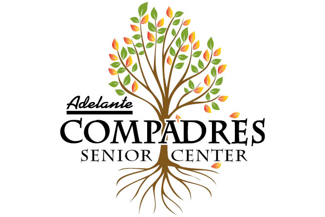 Compadres logo of a tree with roots.
