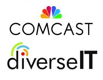 Comcast and diverseIT logos